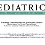 Estudo recente relaciona o uso da fórmula hospitalar em neonatos com menor duração da amamentação!